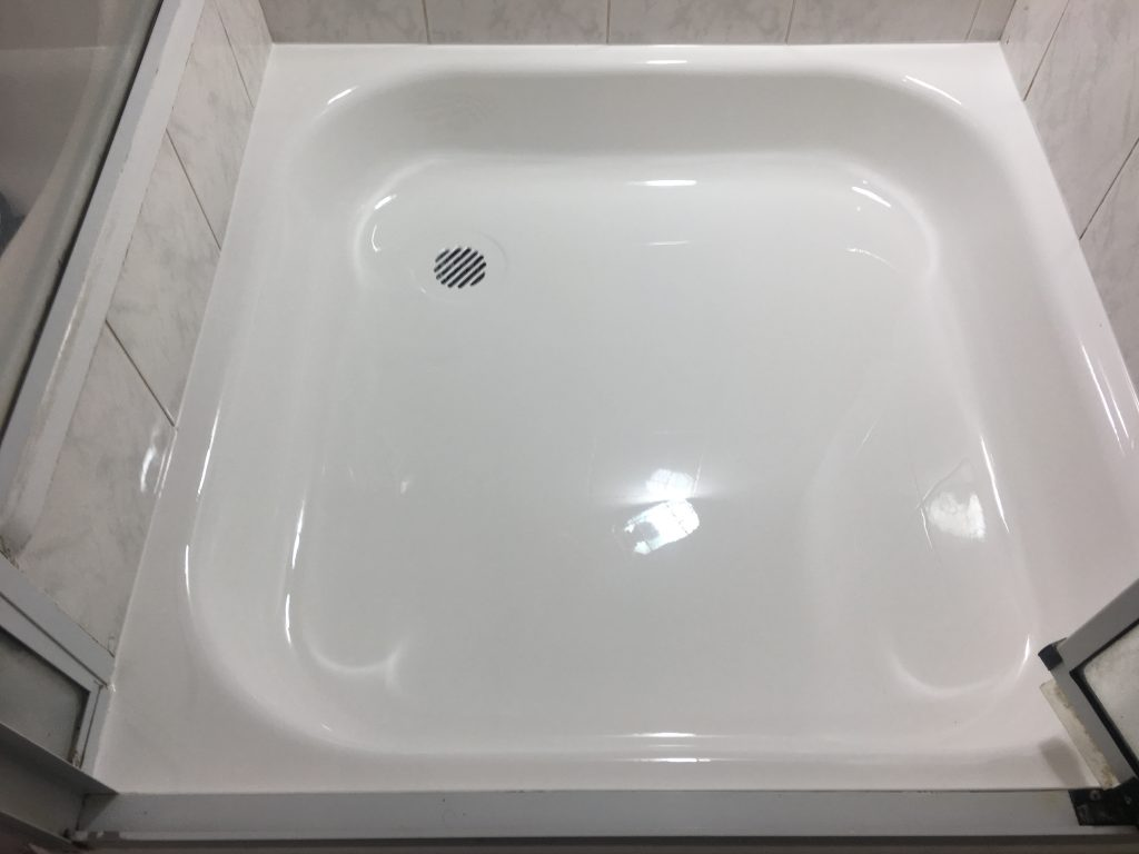Resurfaced shower